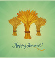 happy shavuot jewish holiday greeting card vector image vector image