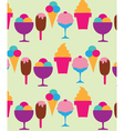 Ice cream and sundaes vector image