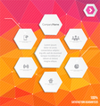 Infographic in polygonal style vector image vector image