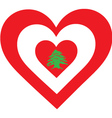 Lebanon Heart vector image vector image