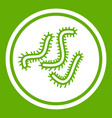 lot of bacteria icon green vector image vector image