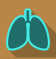 lungs symbol breathing lunge exercise lung cancer vector image vector image