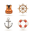 Marine Icons Set vector image vector image