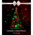 Merry Christmas typographical celebration concept vector image vector image