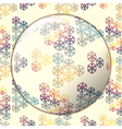 mosaic background stained glass lens effect vector image