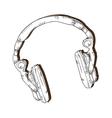 music headphone gadget vector image vector image