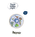 passover watercolor vector image vector image