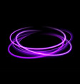 purple circle light effect background swirl glow vector image