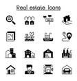 real estate icon set graphic design vector image