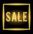 realistic glowing light sign of sale vector image vector image
