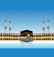 realistic kabah masjidil haram or kaaba for hajj vector image