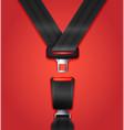 realistic passenger seat belt vector image