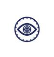 retina scan biometric identification icon vector image vector image