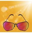 Retro Sun Glasses vector image vector image