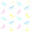 seamless pattern pastel unicorn vector image vector image