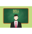 sell yourself with businessman vector image