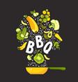 set fresh vegetables vector image vector image