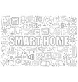 smart home background from line icon vector image
