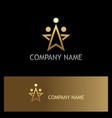 star gold dot company logo vector image vector image