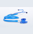 stethoscope realistic medical tool on white vector image