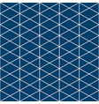 triangle white indigo pattern vector image