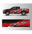 truck and vehicle car racing graphic for wrap and vector image