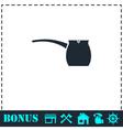 Turk icon flat vector image vector image