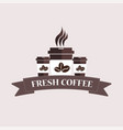typographic coffee shop vector image