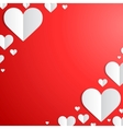 Valentines Day card with paper hearts in the vector image vector image