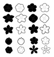 white and black flowers on a background vector image vector image