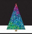 christmas tree hand drawn happy new vector image