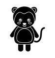 cute monkey animal standing cartoon wildlife vector image