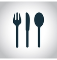 Fork knife spoon icon vector image