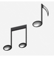 a black notes isolated on white vector image