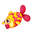A pouty fish vector image vector image