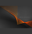 abstract background orange line for design vector image vector image