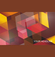 abstract geometric background from transparent