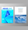 abstract triangle geometric brochure template map vector image vector image