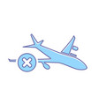 airplane cancel flight plane transport travel icon vector image vector image