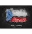 background flag smoke and clouds vector image