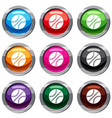 basketball ball set 9 collection vector image vector image