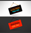black friday sale promotional banner vector image