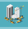 building construction 3d isometric concept vector image