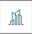 building line logo template vector image