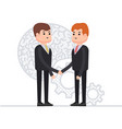 business agreement of two businessmen interaction vector image vector image