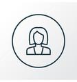 businesswoman icon line symbol premium quality vector image vector image