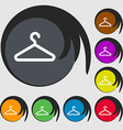 clothes hanger icon sign Symbol on eight colored vector image