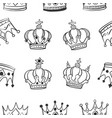 Collection crown style pattern vector image