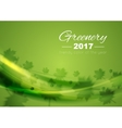 Color of the year 2017 Greenery waves background vector image vector image