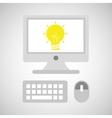 computer network desktop creativity vector image vector image